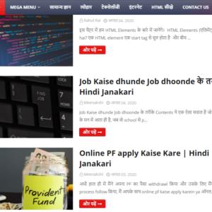 hindi content